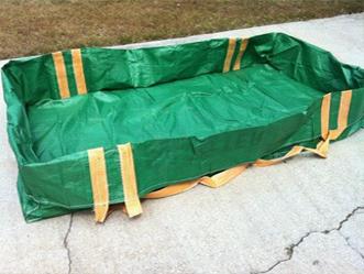 Green Color Dumpster Skip Bag